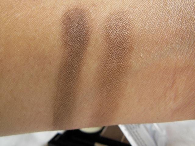NYX Eyebrow Cake Powder- Dark Brown Brown Swatch