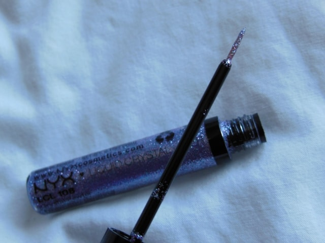 NYX Liquid Crystal  Eye Liner Crystal Pewter Review