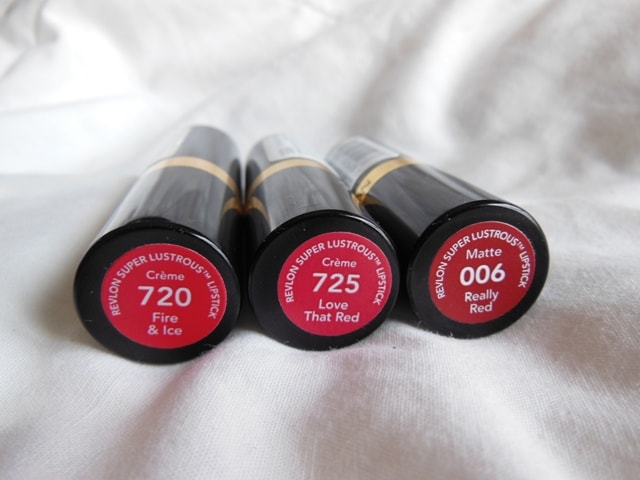 Revlon Superlustrous Red Lipsticks`