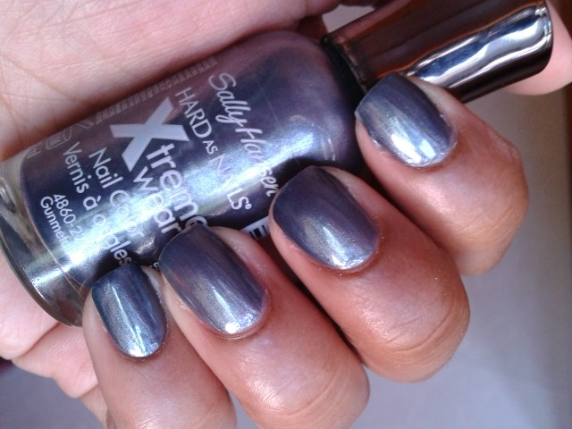 Sally Hansen Hard As Nails Xtreme Wear Nail Color Gunmetal NOTD