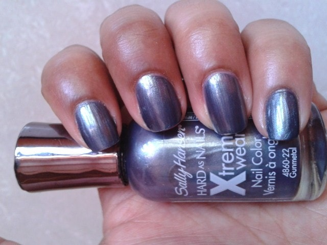 Sally Hansen Hard  As Nails Xtreme Wear Nail Color Gunmetal Swatch