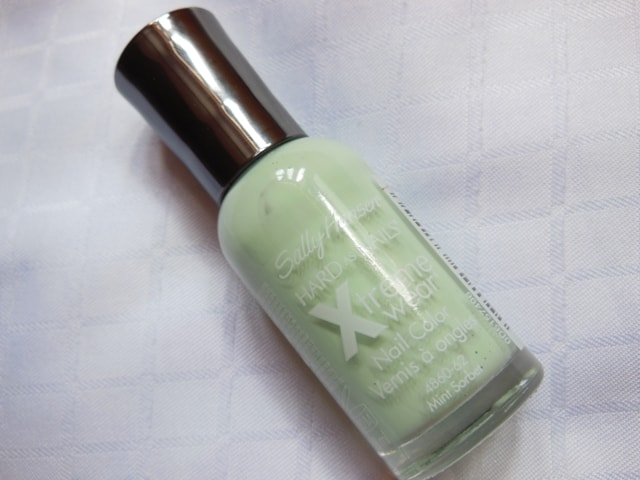 Sally Hansen Hard As Nails Xtreme Wear Nail Color Mint Sorbet Review
