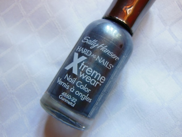 Sally Hansen Hard As Nails Xtreme Wear Nail Paint Gunmetal Review