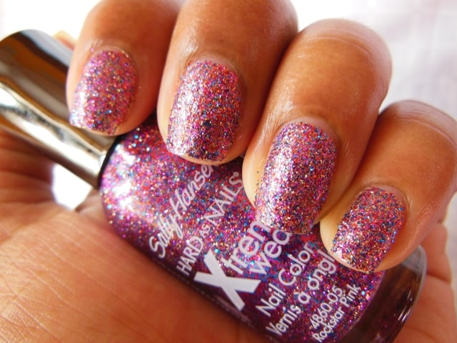 Sally Hansen Hard As Nails Xtreme Wear Nail Polish-Rockstar Pink NOTD1