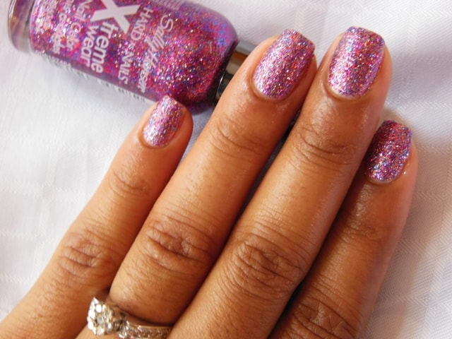 Sally Hansen Hard As Nails Xtreme Wear Nail Polish-Rockstar Pink NOTD2