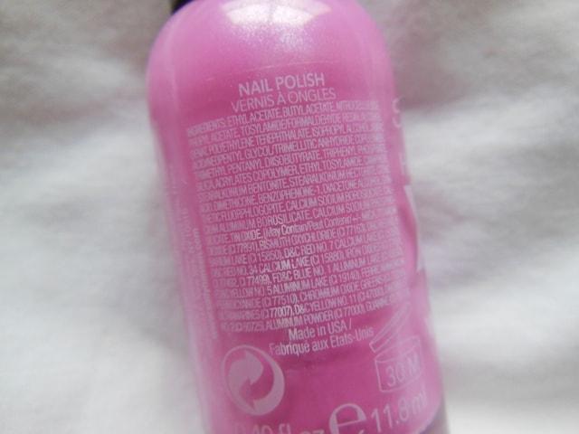 Sally Hansen Xtreme Wear Nail Color Bubblegum Pink Ingredients
