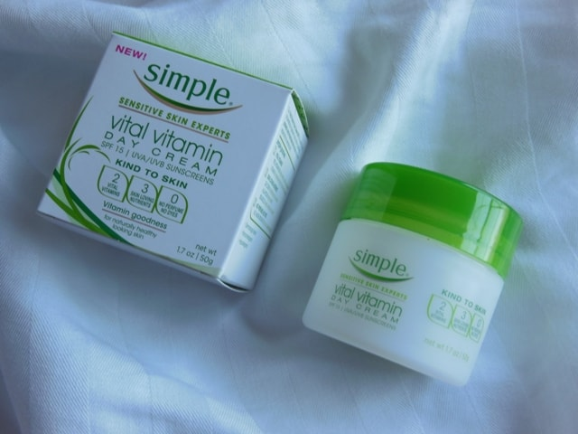 Simple Vitamin Day Cream SPF15 Review