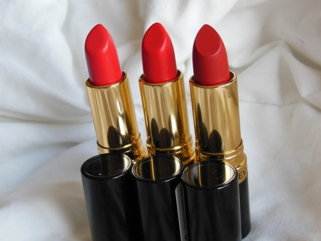 Swatch-3 Revlon Superlustrous Red Lipsticks