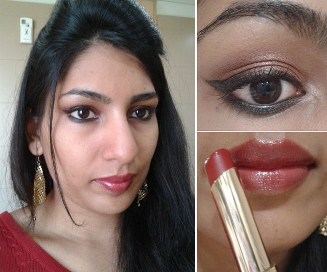 What Am I wearing Today - L'Oreal Color Riche Caresse Lipstick-Cherry Tulle