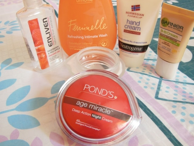 Finally Finished June@2013-Pond's Night Cream, Neutrogena Hand Cream, Garenier BB cream