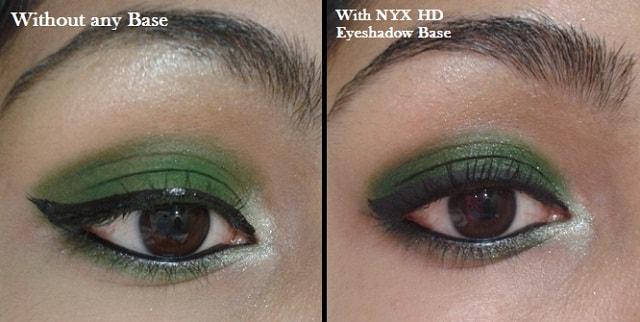 NYX HD Eye Shadow Base-Comparison