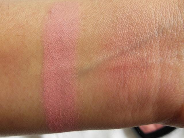 NYX Powder Blush-Dusty Rose Swatch