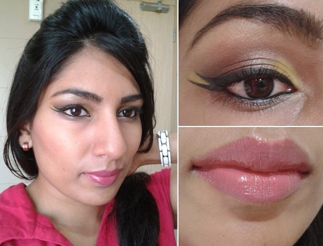 What Am I Wearing Today - Graphic Eye Liner and Custom Lipcolor