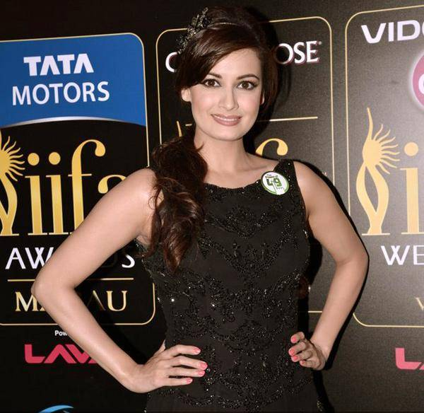Dia Mirza in Rocky Black Dress @ IIFA Awards 2013