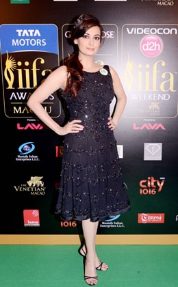 Dia Mirza in Rocky S Black Dress  IIFA Awards 2013