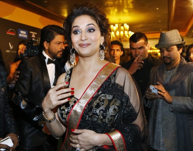 Madhuri Dixit at IIFA Awards 2013- Black Saree