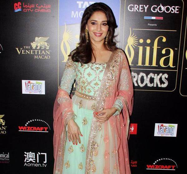 Madhuri Dixit at IIFA Awards 2013- in Mint Green Lehenga