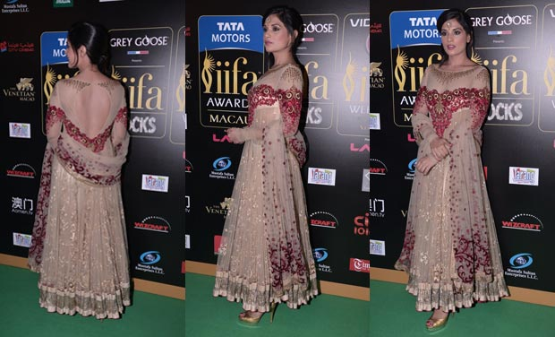Richa Chadda in Tarun Thahiliani Lehenga @ IIFA Awards 2013.jpg
