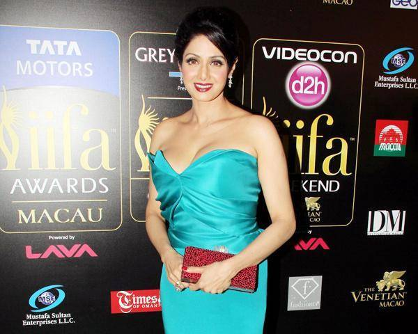 Sridevi @ IIFA Awards 2013 Teal Gown
