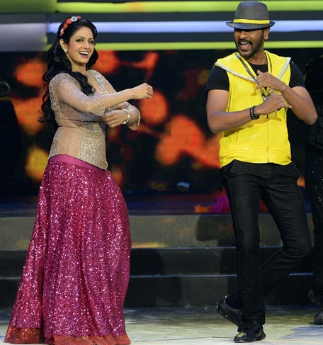 Sridevi and Prabhu Deva @ IIFA Awards 2013