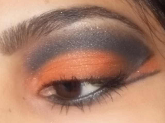 Eye-Makeup-O-Mania- Orange And Black Eye Makeup 3
