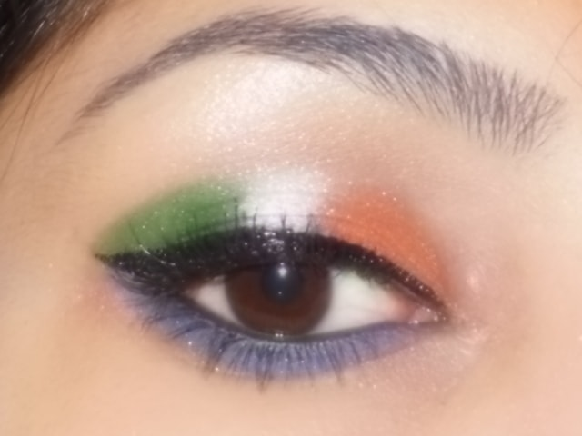 Indian IndependenceDay @2013 Eye Makeup Look 3