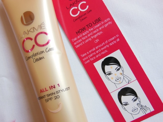 Lakme CC Cream All In One Instant Skin Stylist - Bronze DIrections
