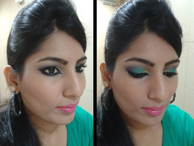 Look with Colorful Eye Makeup & Arabian Style Liner