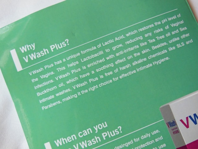 V Wash Expert Intimate Hygiene Description