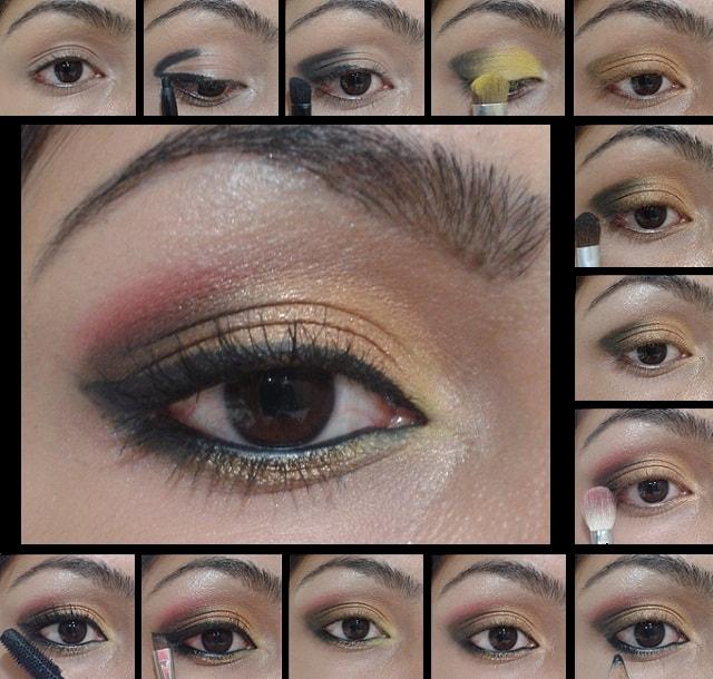 Eye Makeup Tutorial - Golden Pink Eyes
