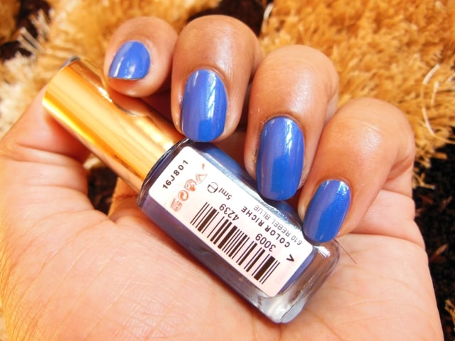 L'Oreal Paris Color Riche Le Vernis Nail Enamel Rebel Blue NOTD
