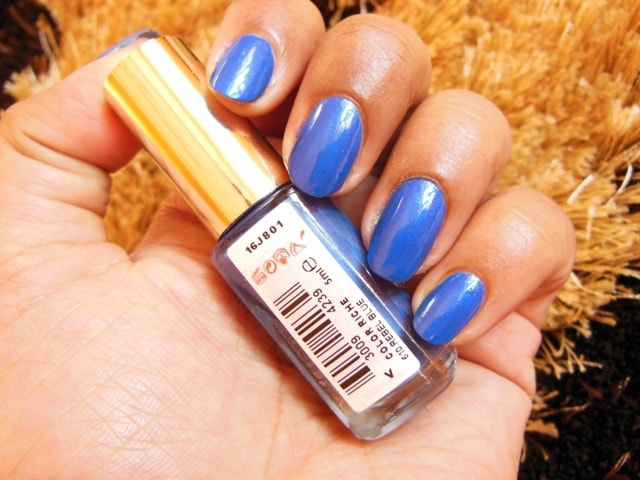 L'Oreal Paris Color Riche Nail Paint Rebel Blue NOTD