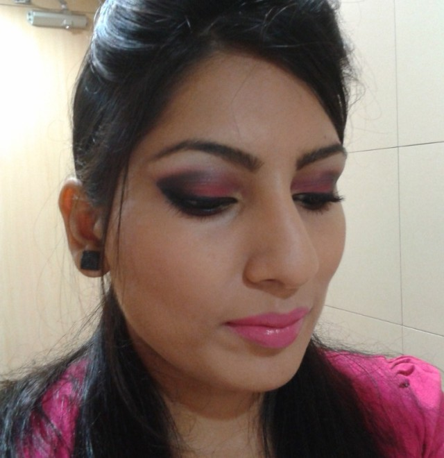 Pink Smokey Eyes Makeup Look