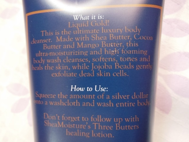 Shea Moisture's Three Butters Wash & Scrub Claims