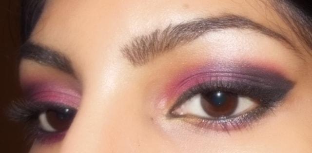 Smokey Pink Eye Makeup Look