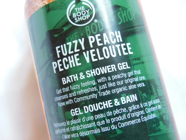 The Body Shop Fuzzy Peach Bath & Shower Gel Claims