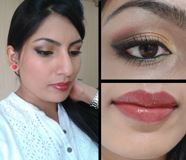 What Am I Wearing Today - Golden Pink Eye Makeup