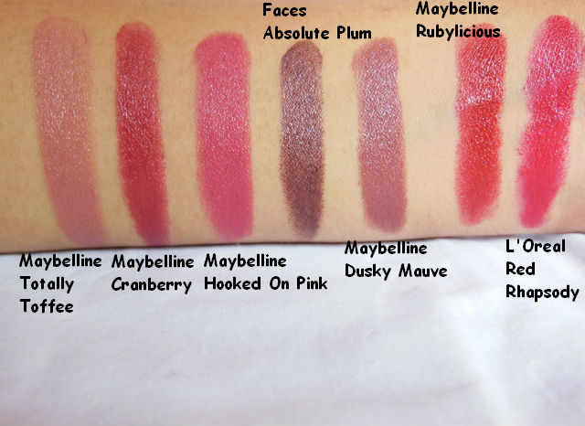 Blog Sale - Lipstick Swatches