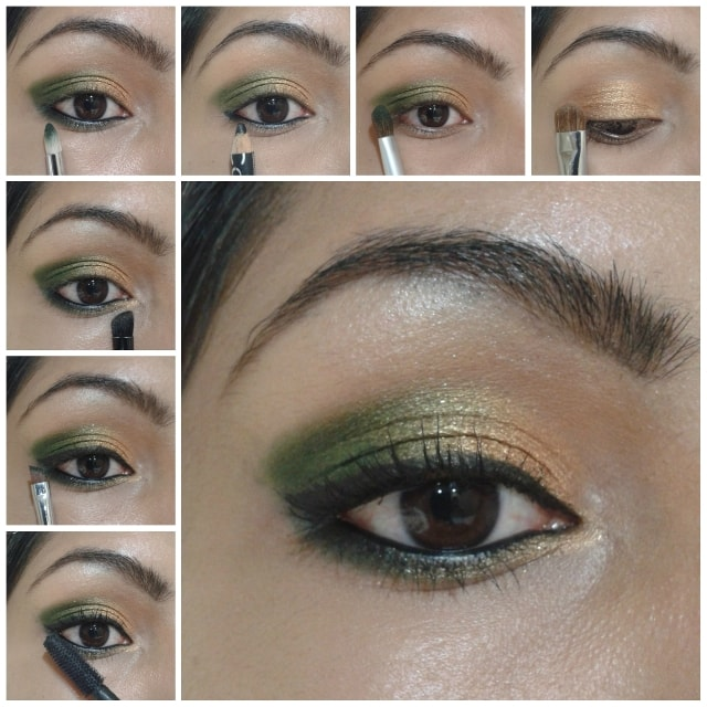Eye Makeup Tutorial- Gold and Green Look