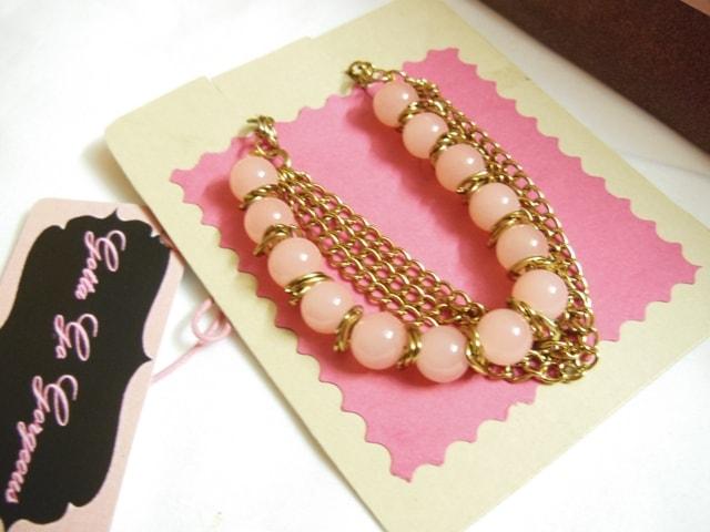 Gotta Go Gorgeous Pink Pearl Bracelet