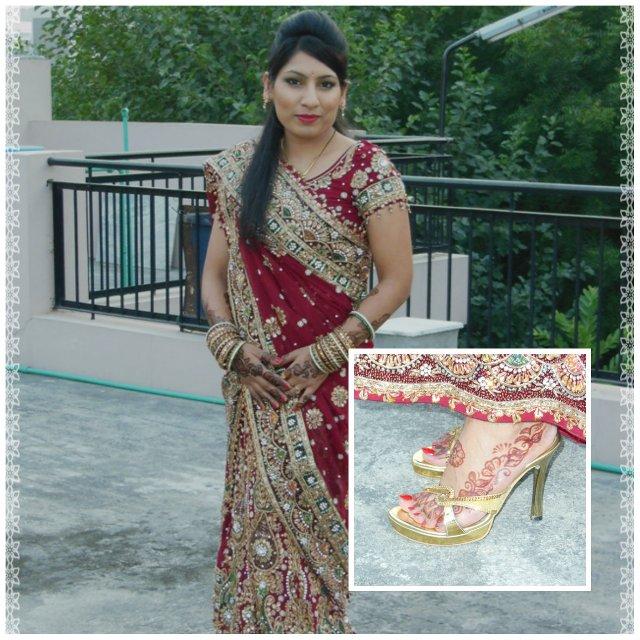 Karvachauth Special - Wedding Lehenga Look - Heels