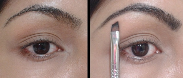 Makeup Tricks - Filling Eyebrows using Angled Liner Brush