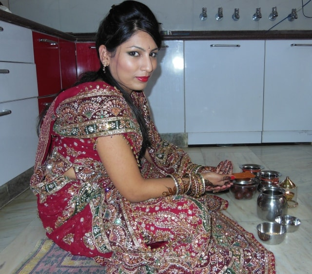 Wedding Lehenga karvachauth Look- Katha