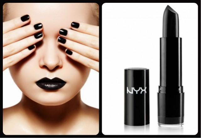 Black Lipstick - NYX Round Penelope Lipstick
