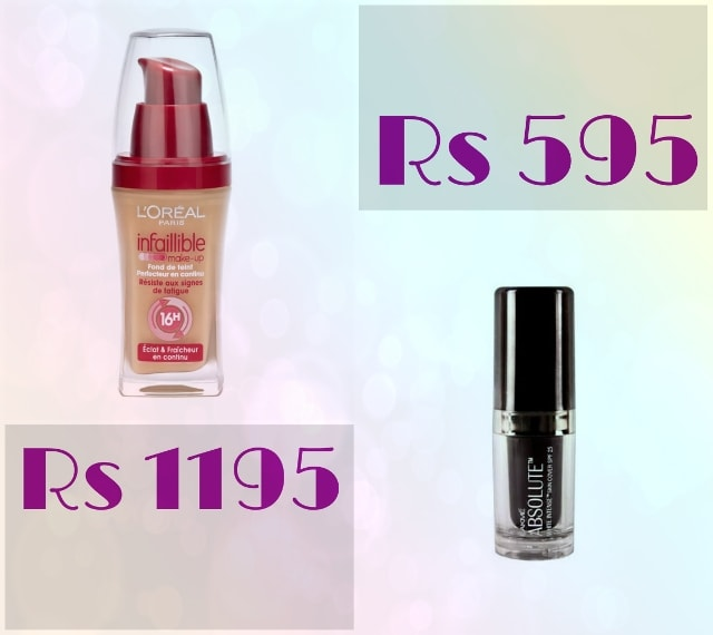Bridal Beauty - L'Oreal Infallible and Lakme Intense Cover Foundation