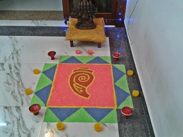 Diwali Rangoli Design 1 @2013