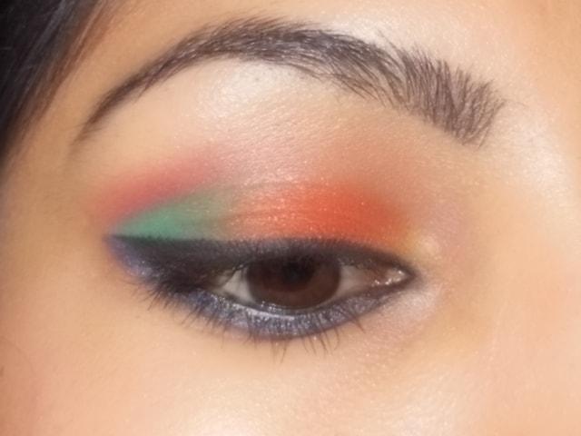 Eyes-O-Mania- Orange and Blue Eye Makeup Look