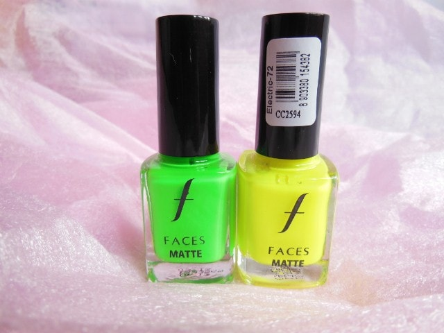 Faces Contest Prize - Faces Canada Matte Neon Nail Paints