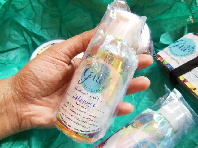 Gia Bath And Body Works Shower Gel Packaging