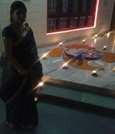 Me with My second Rangoli 1